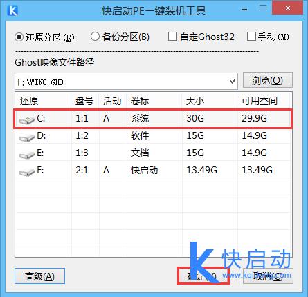 ghost win8选择C盘安装系统.png