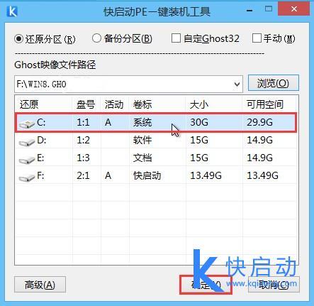 ghost win8浏览安装系统选择C盘.jpg