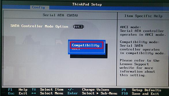 联想笔记本修改ahci硬盘模式