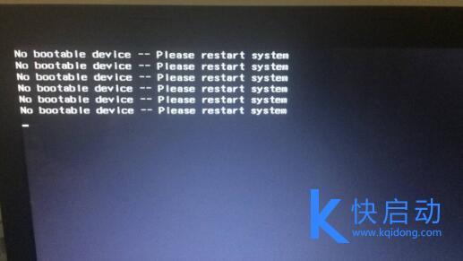 电脑重装开机提示No bootable device怎么办?笔记本开机出现no bootable device完美解决方案